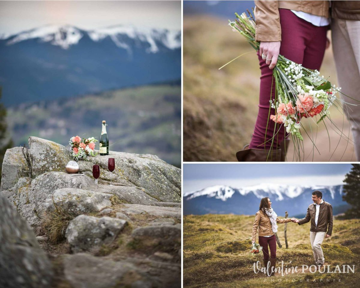 Shooting save the date montagne - Valentine Poulain montagne