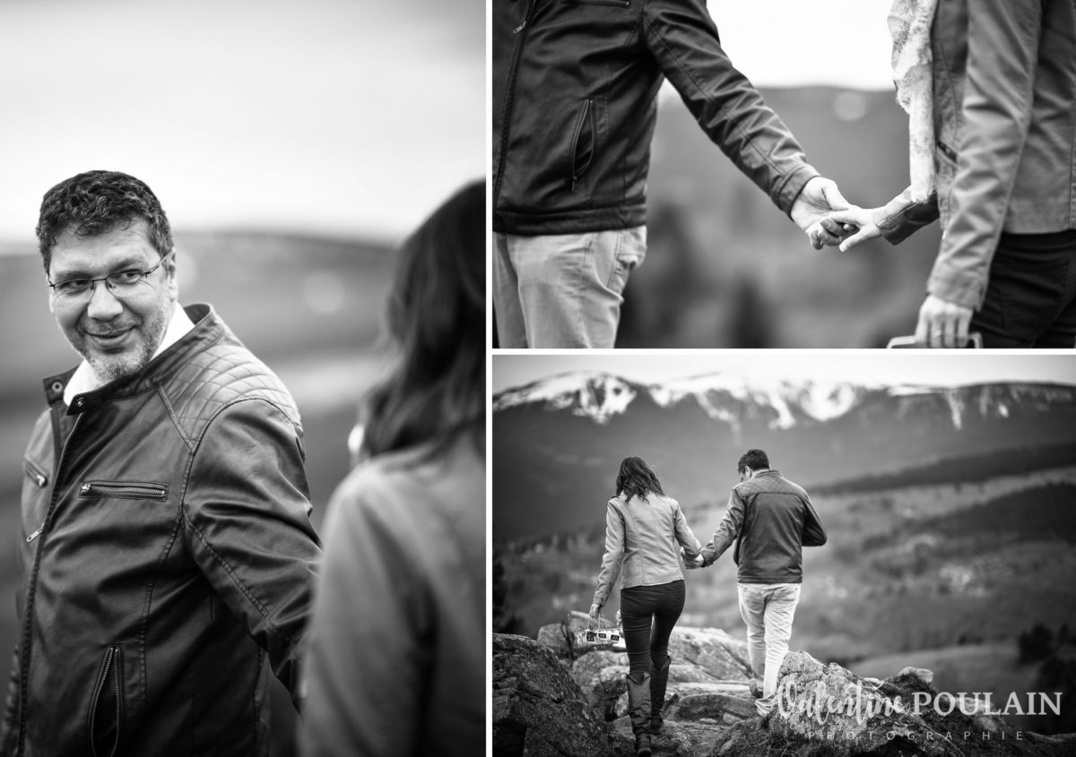 Shooting save the date montagne - Valentine Poulain regard