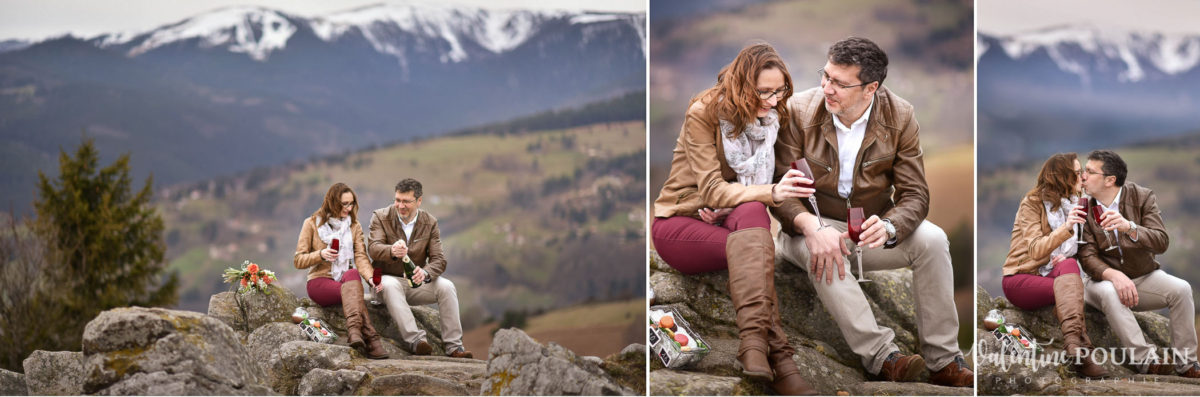 Shooting save the date montagne - Valentine Poulain trinquer