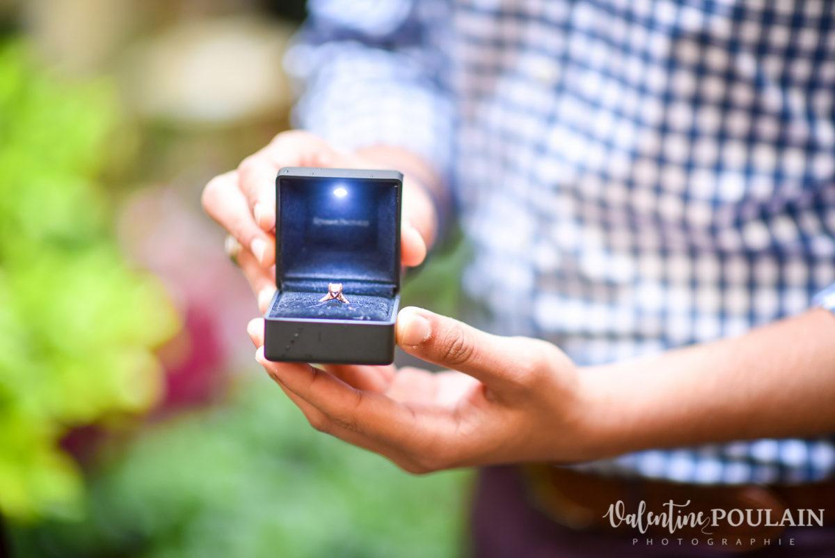Demande mariage Colmar - Valentine Poulain bague