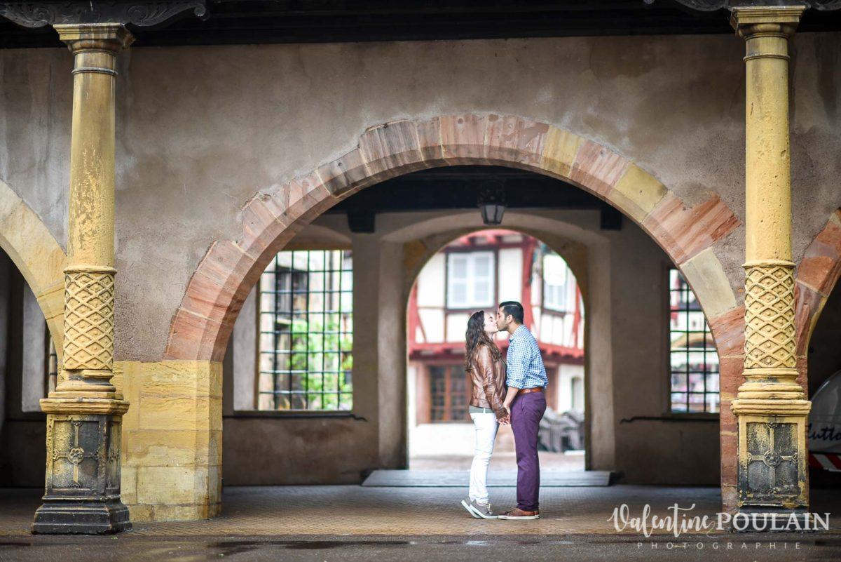 Demande mariage Colmar - Valentine Poulain bisou