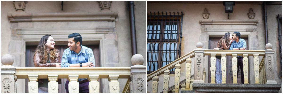 Demande mariage Colmar - Valentine Poulain escaliers