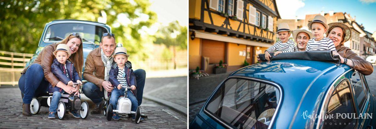 Famille voiture fiat 500 Colmar
