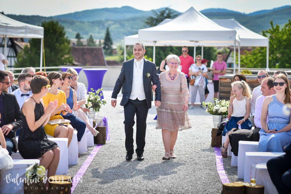 Mariage wedding planner- Valentine Poulain arrivée marié