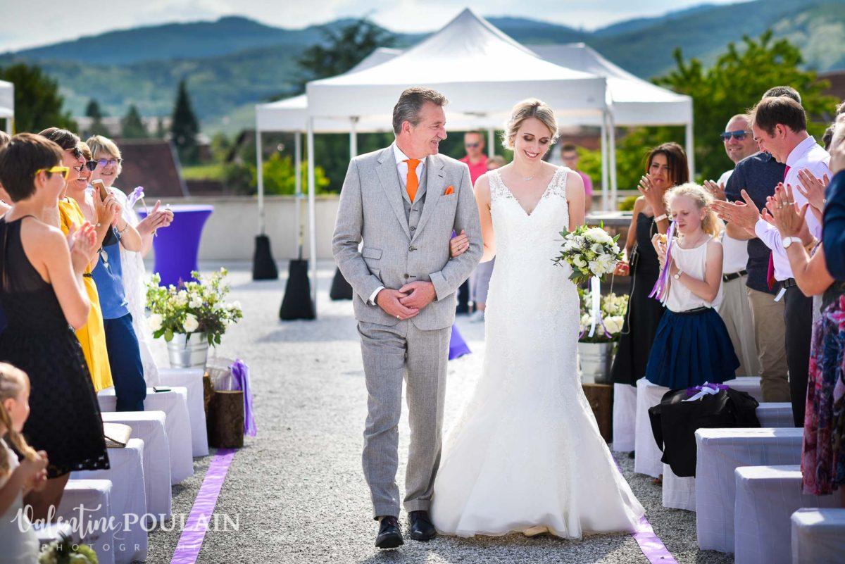 Mariage wedding planner- Valentine Poulain arrivée mariée