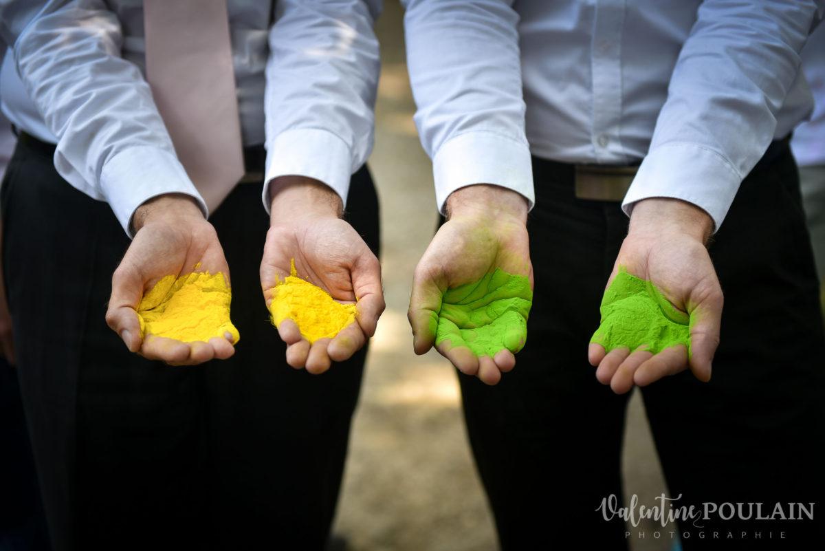 Il et il mariage couple homosexuel couleur