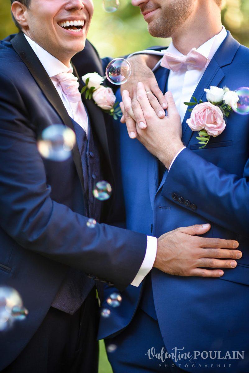 Il et il mariage couple homosexuel duo