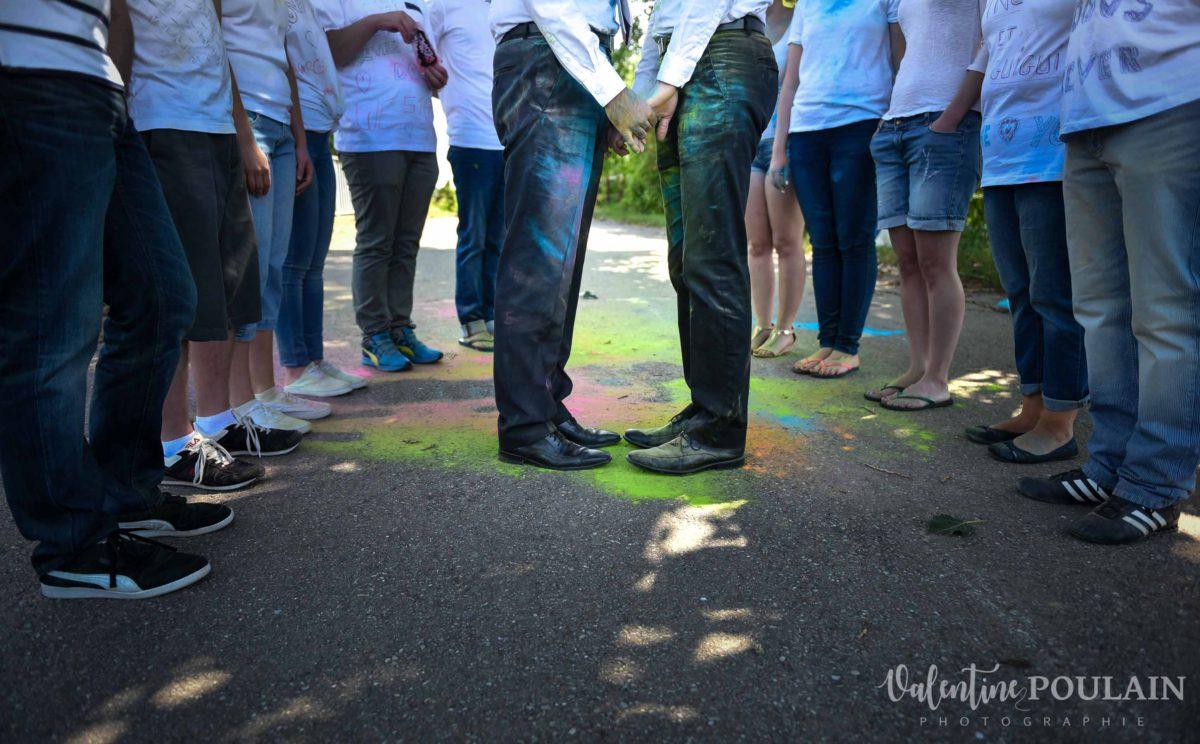 Il et il mariage couple homosexuel pied