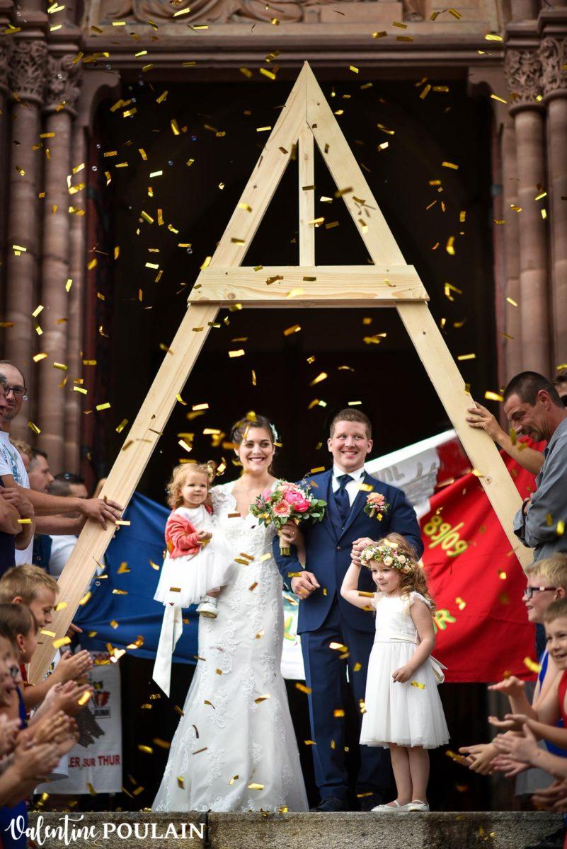 Mariage émotions Moosch haie d'honneur - Valentine Poulain