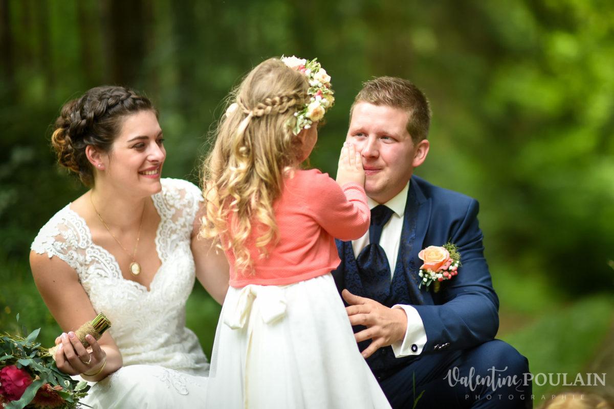 Mariage émotions fille père - Valentine Poulain