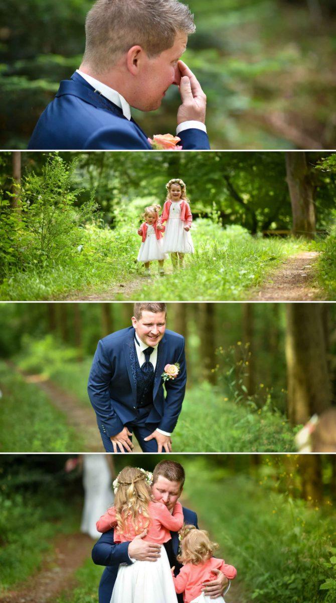 Mariage émotions père filles Valentine POULAIN