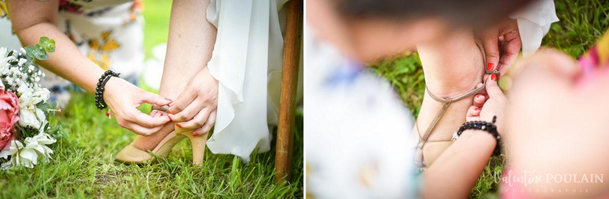 Mariage grange - Valentine Poulain chaussure