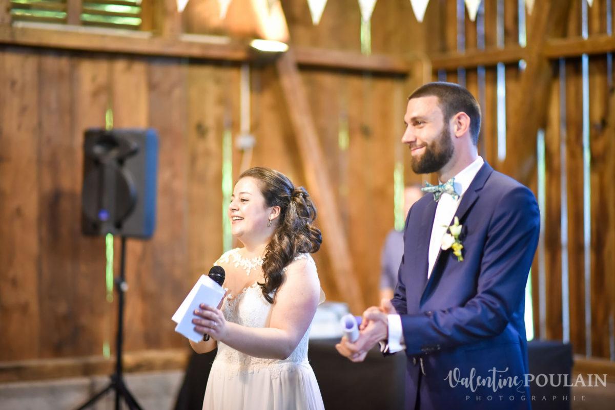 Mariage grange - Valentine Poulain discours