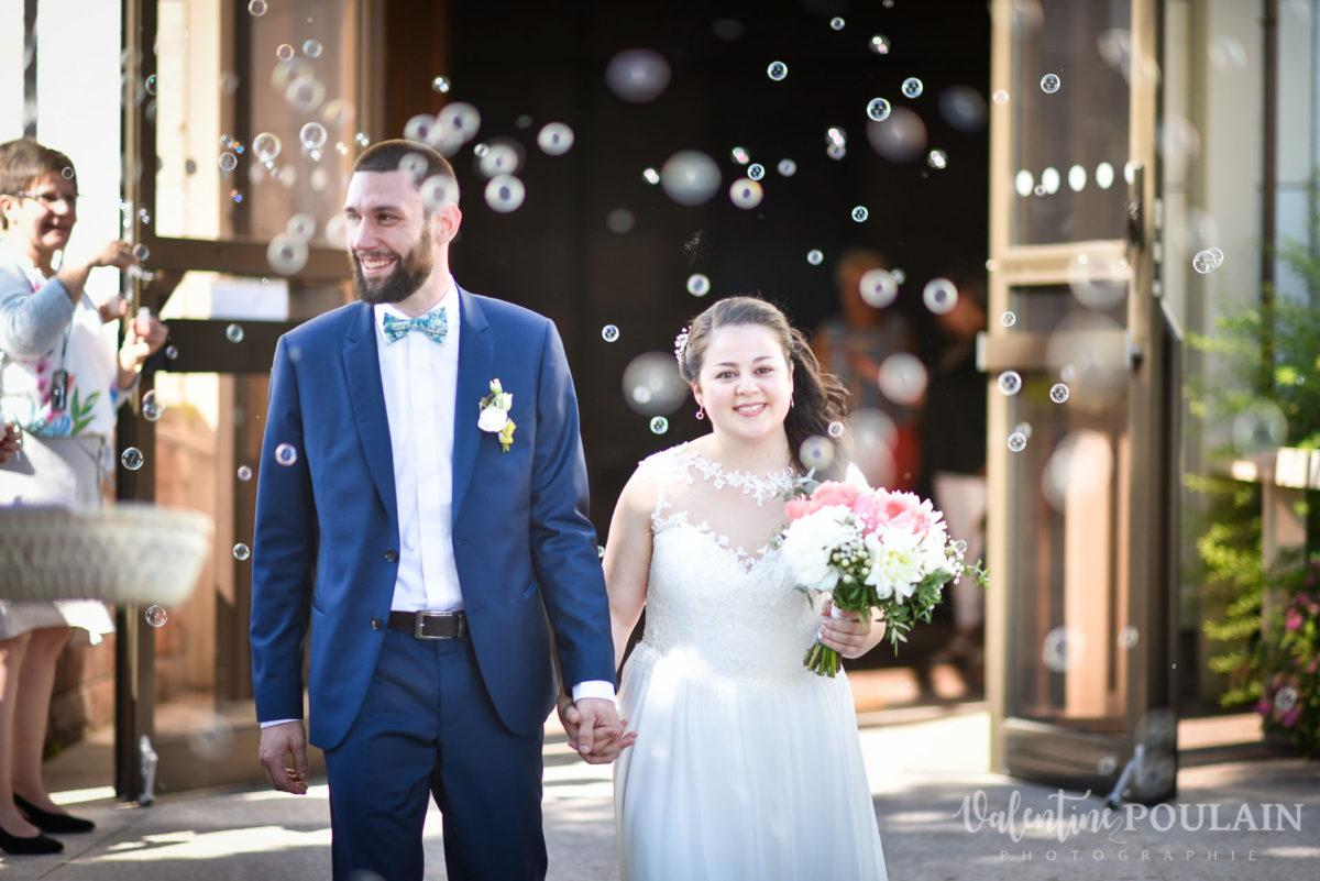 Mariage grange - Valentine Poulain haie d'honneur