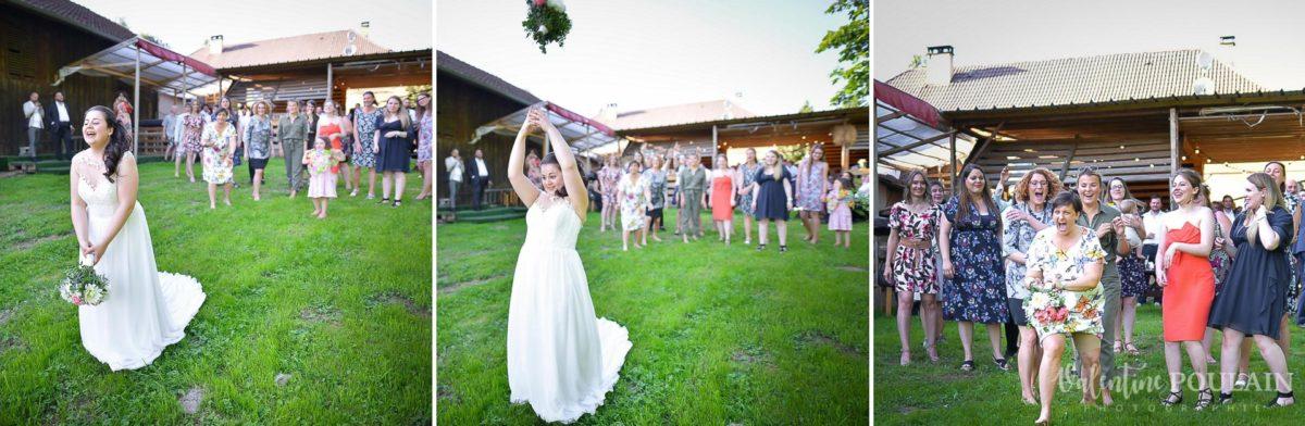 Mariage grange - Valentine Poulain lancer