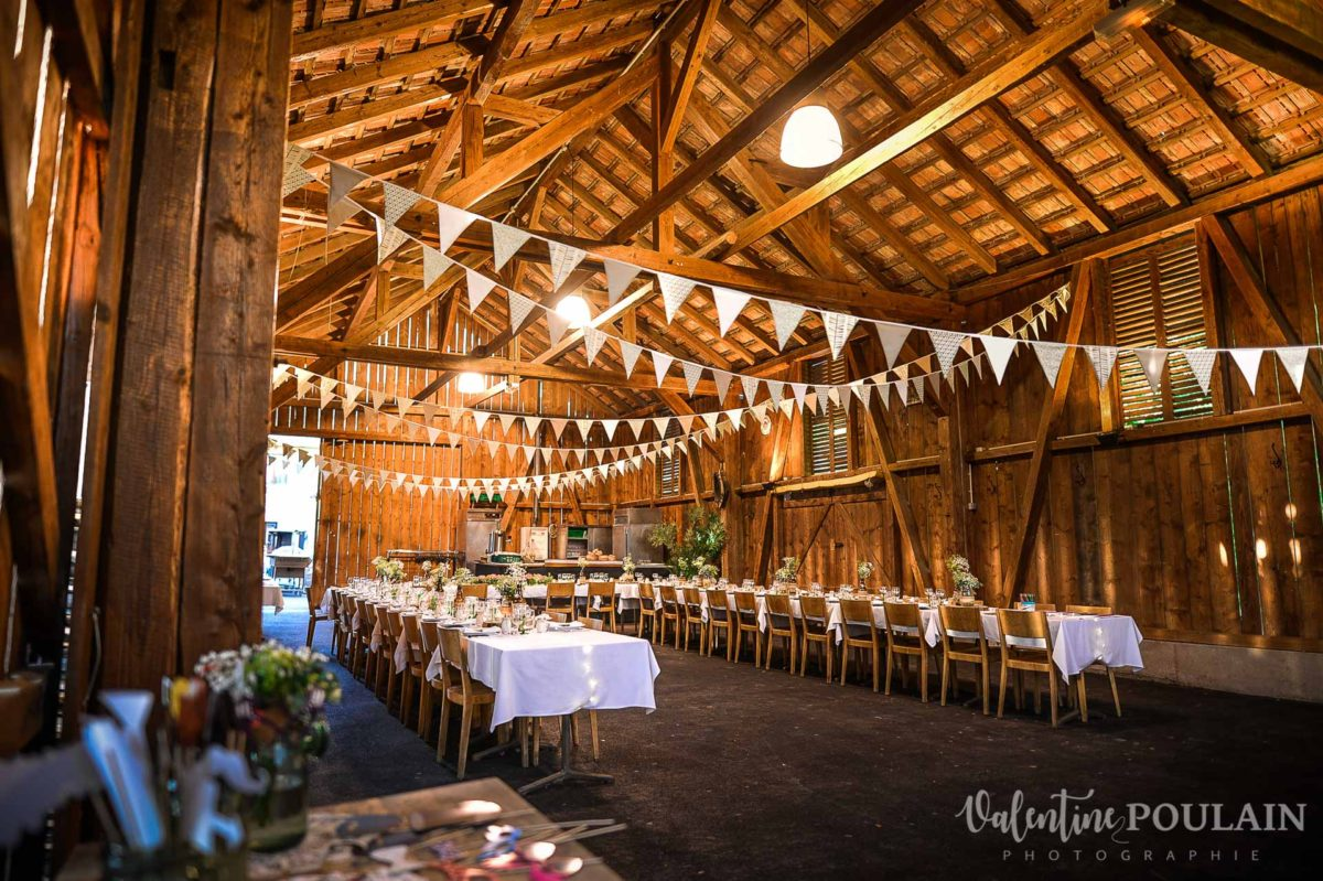 Mariage grange - Valentine Poulain diner