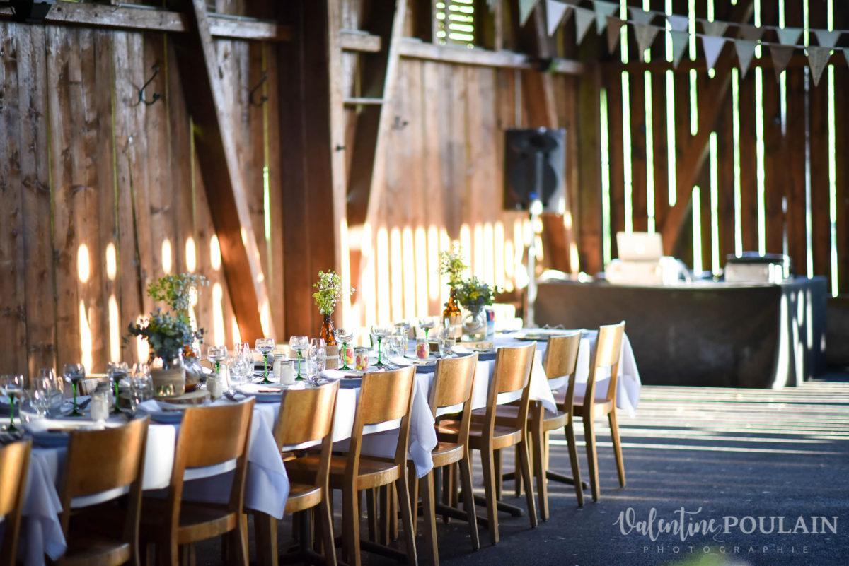 Mariage grange - Valentine Poulain table