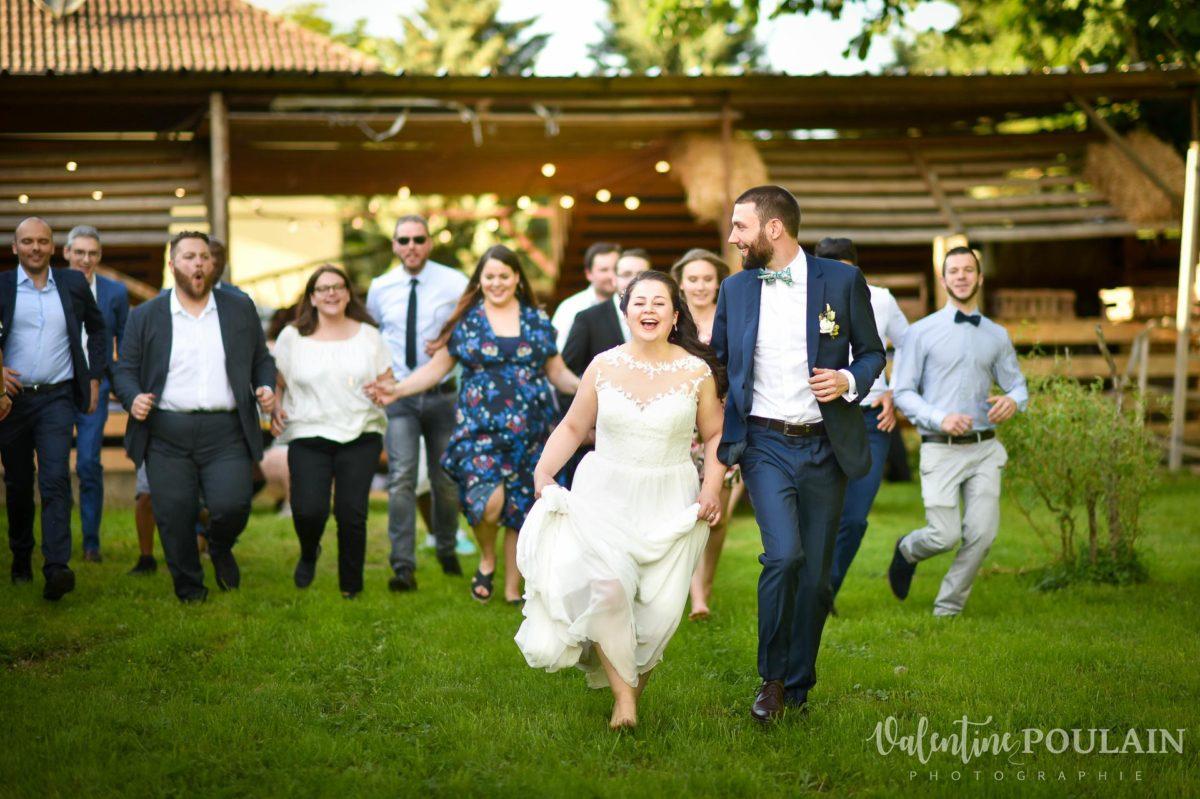 Mariage grange - Valentine Poulain funky courir