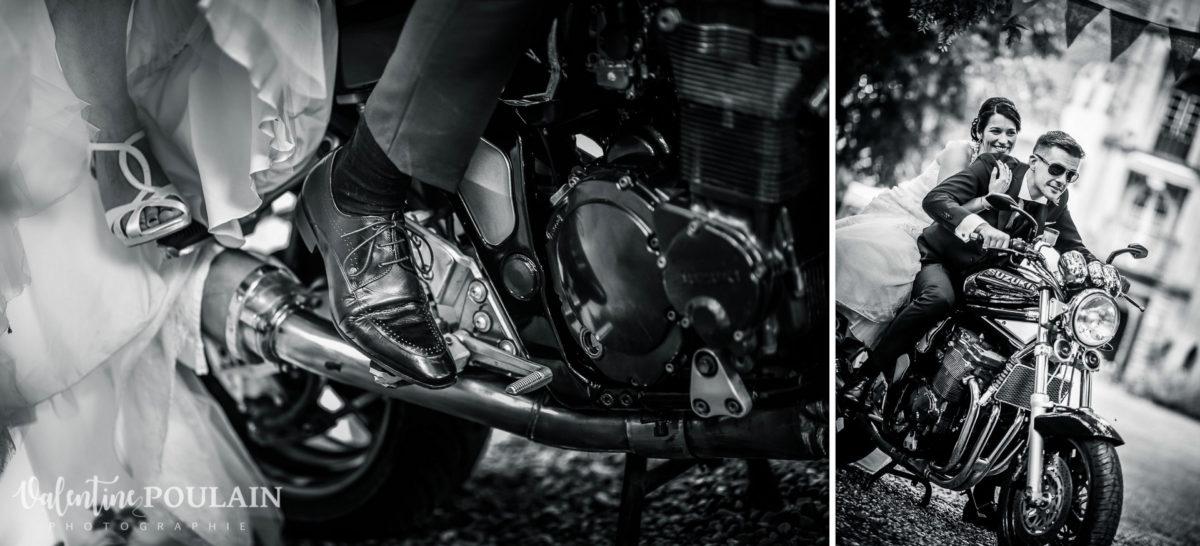 Mariage rock moto Gueberschwihr - Valentine Poulain netb