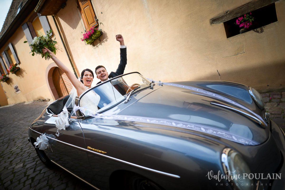 Mariage rock moto Gueberschwihr - Valentine Poulain voiture