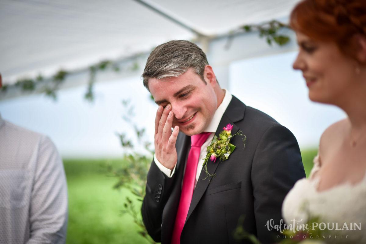 Mariage joyeux vert rose larme - Valentine Poulain