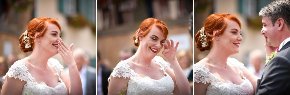 Mariage joyeux vert rose first larmes - Valentine Poulain
