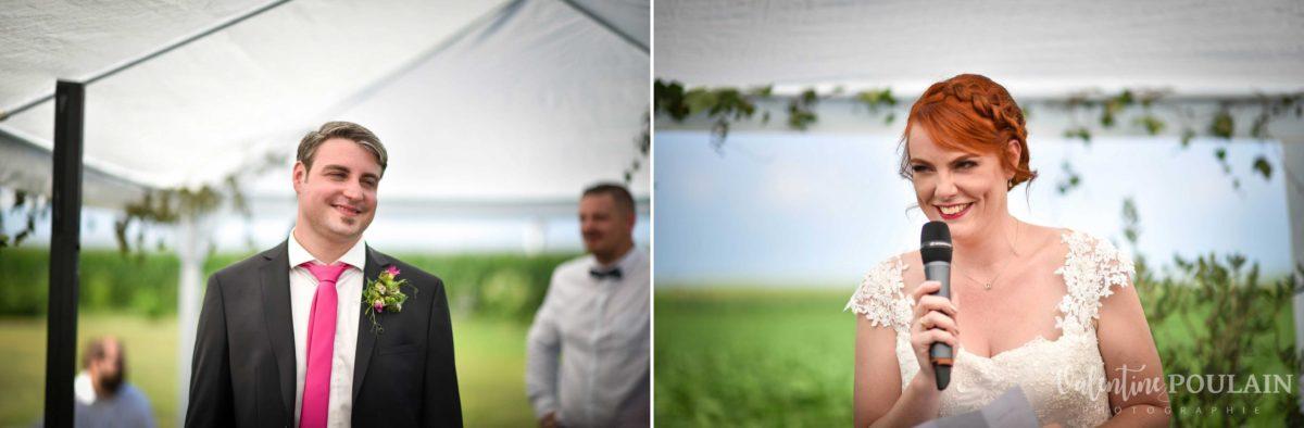 Mariage joyeux vert rose les discours - Valentine Poulain