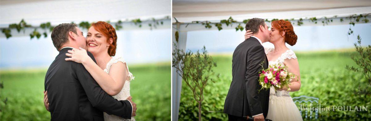 Mariage joyeux vert rose merci - Valentine Poulain