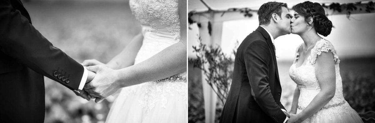 Mariage joyeux vert rose bisou- Valentine Poulain