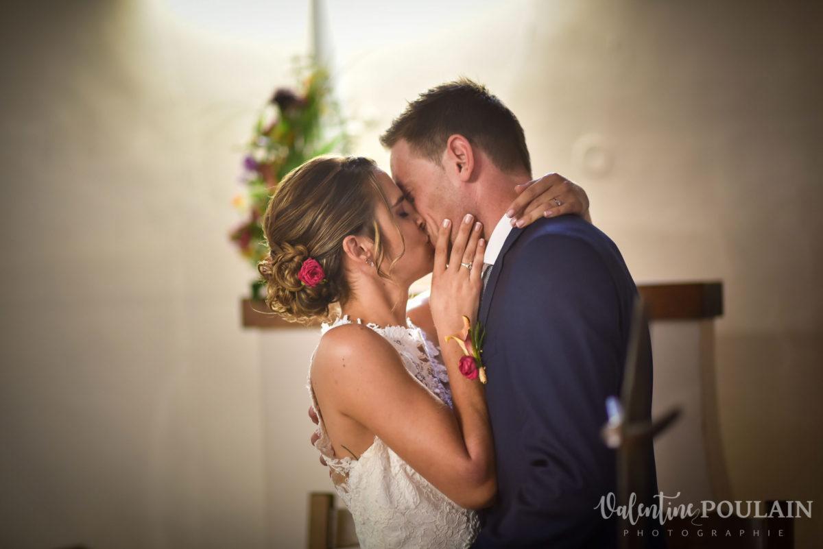 Mariage sportifs - Valentine Poulain baiser