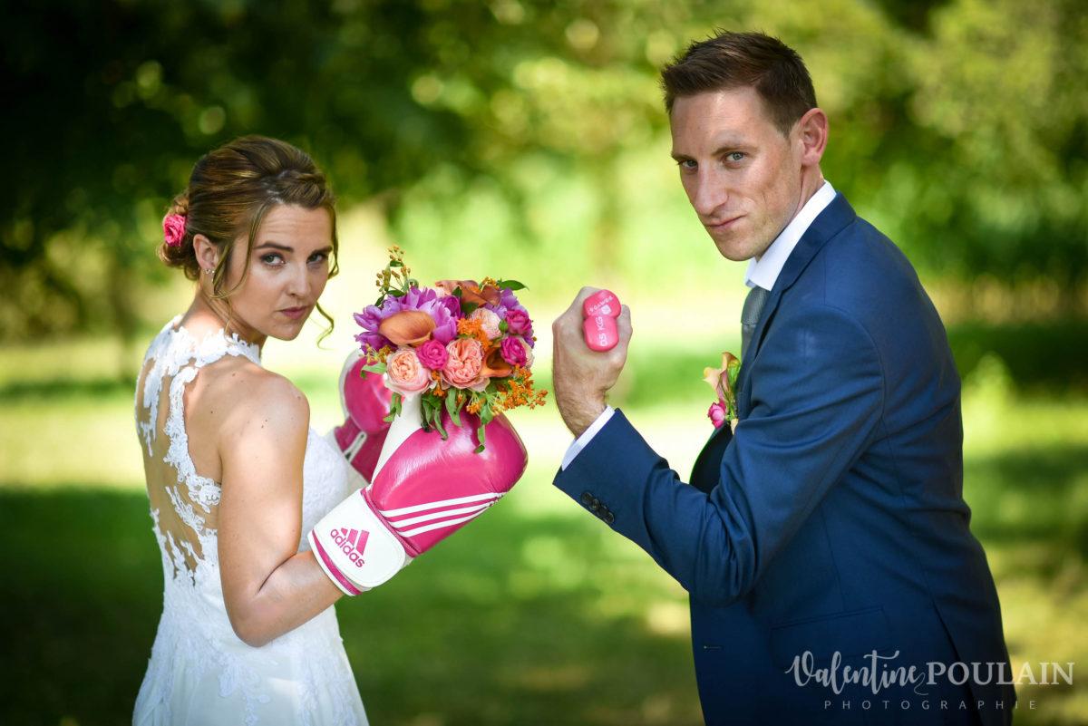 Mariage sportifs - Valentine Poulain battle