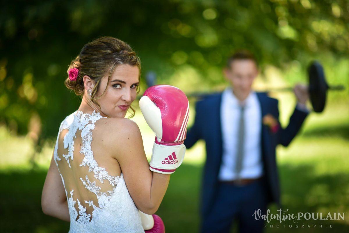 Mariage sportifs - Valentine Poulain boxe