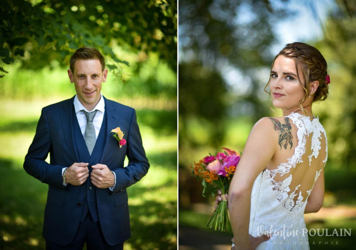 Mariage sportifs - Valentine Poulain couple