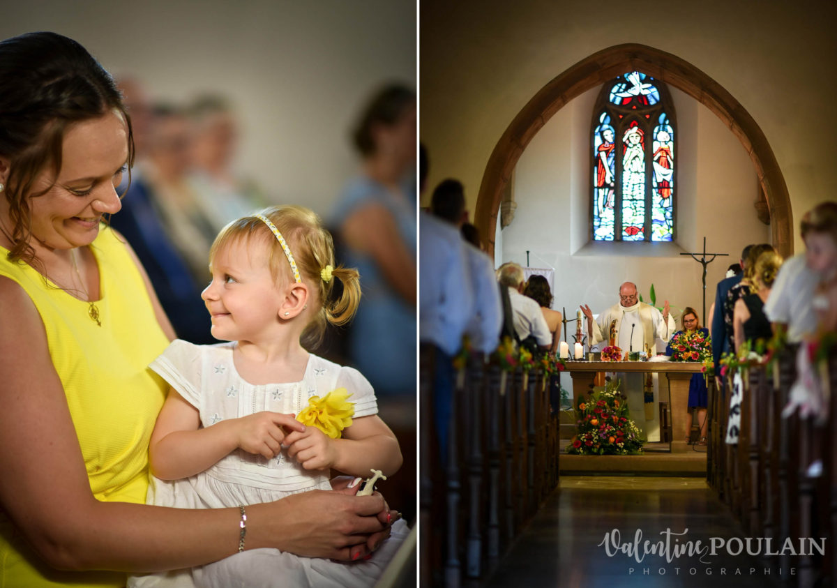 Mariage sportifs - Valentine Poulain église