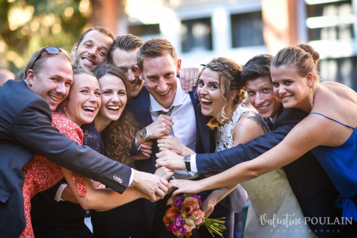Mariage sportifs - Valentine Poulain friends