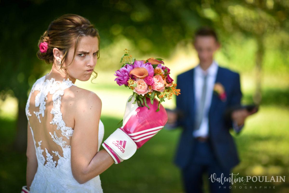 Mariage sportifs - Valentine Poulain bouquet