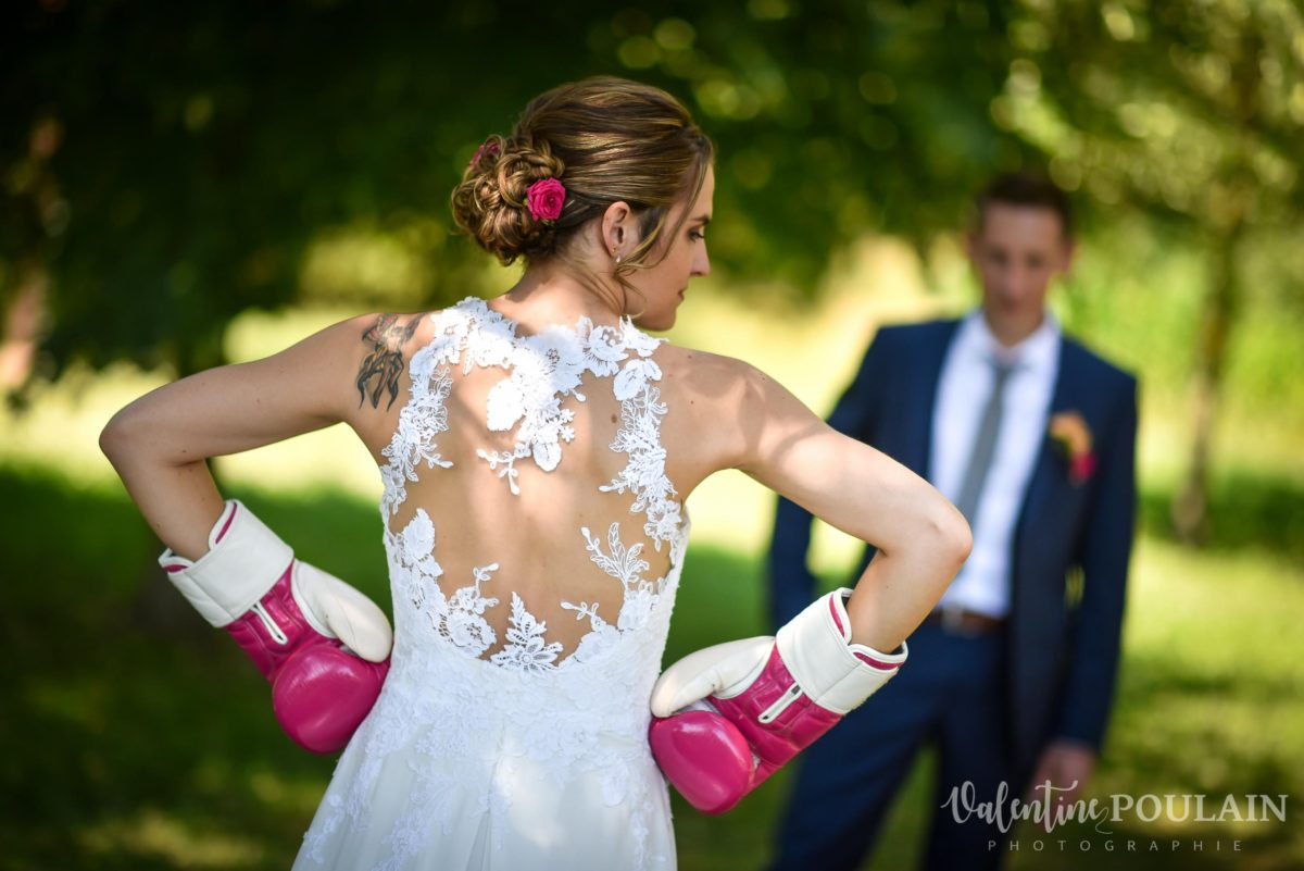 Mariage sportifs - Valentine Poulain gants