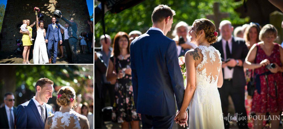 Mariage sportifs - Valentine Poulain haie honneur