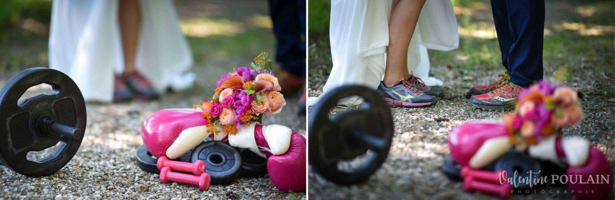 Mariage sportifs - Valentine Poulain matériel