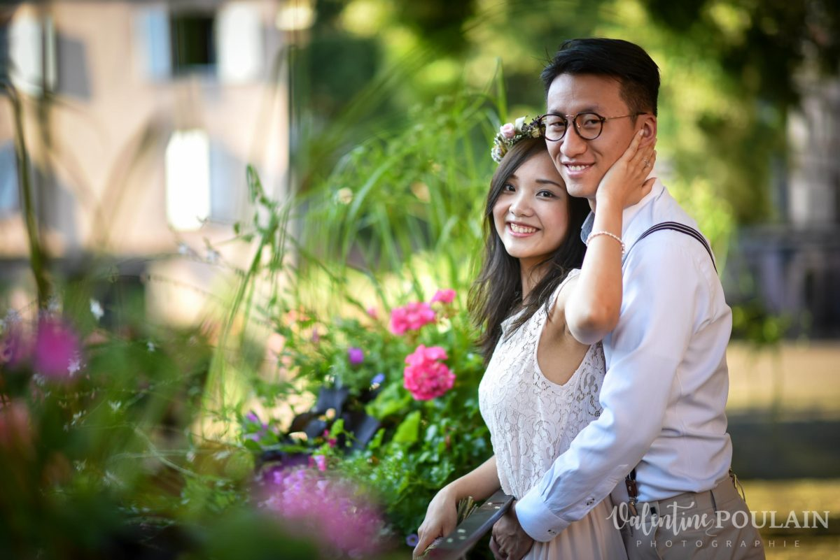 Save the date Colmar couple chinois - Valentine Poulain fleurs