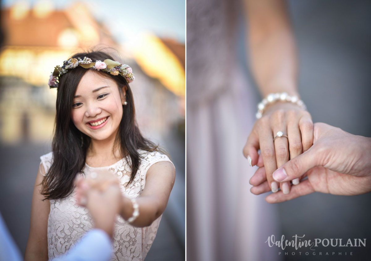 Save the date Colmar couple chinois - Valentine Poulain hand