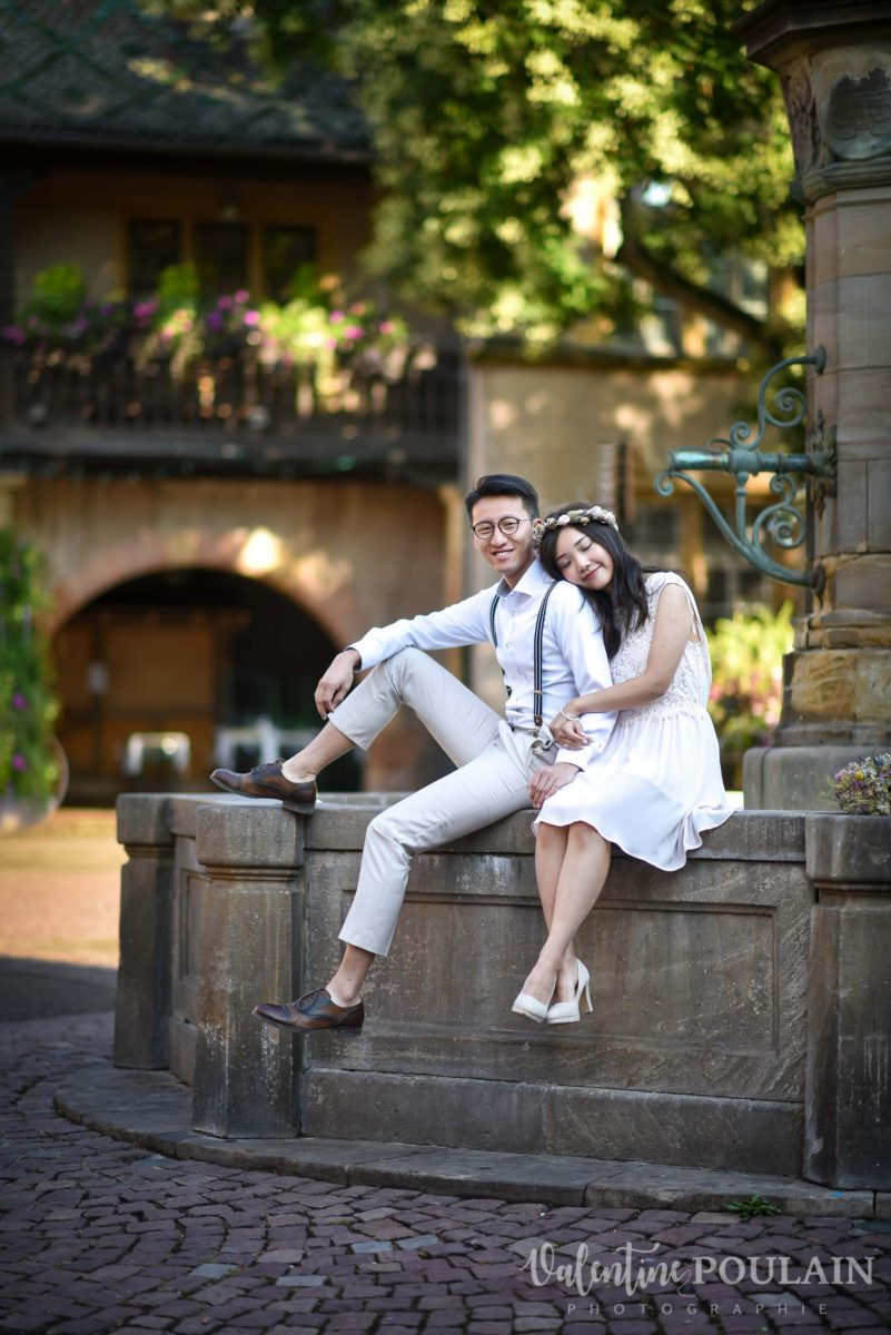 Save the date Colmar couple chinois - Valentine Poulain Koïfhus