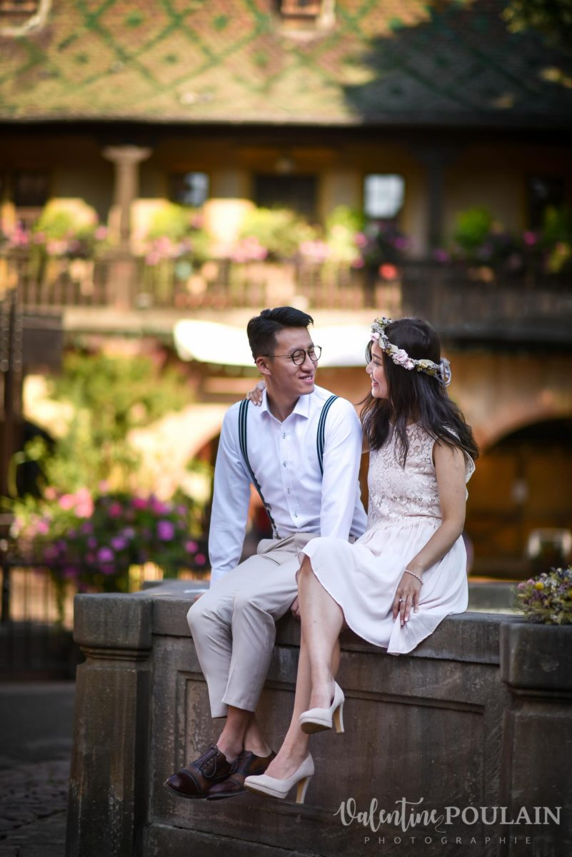 Save the date Colmar couple chinois - Valentine Poulain look