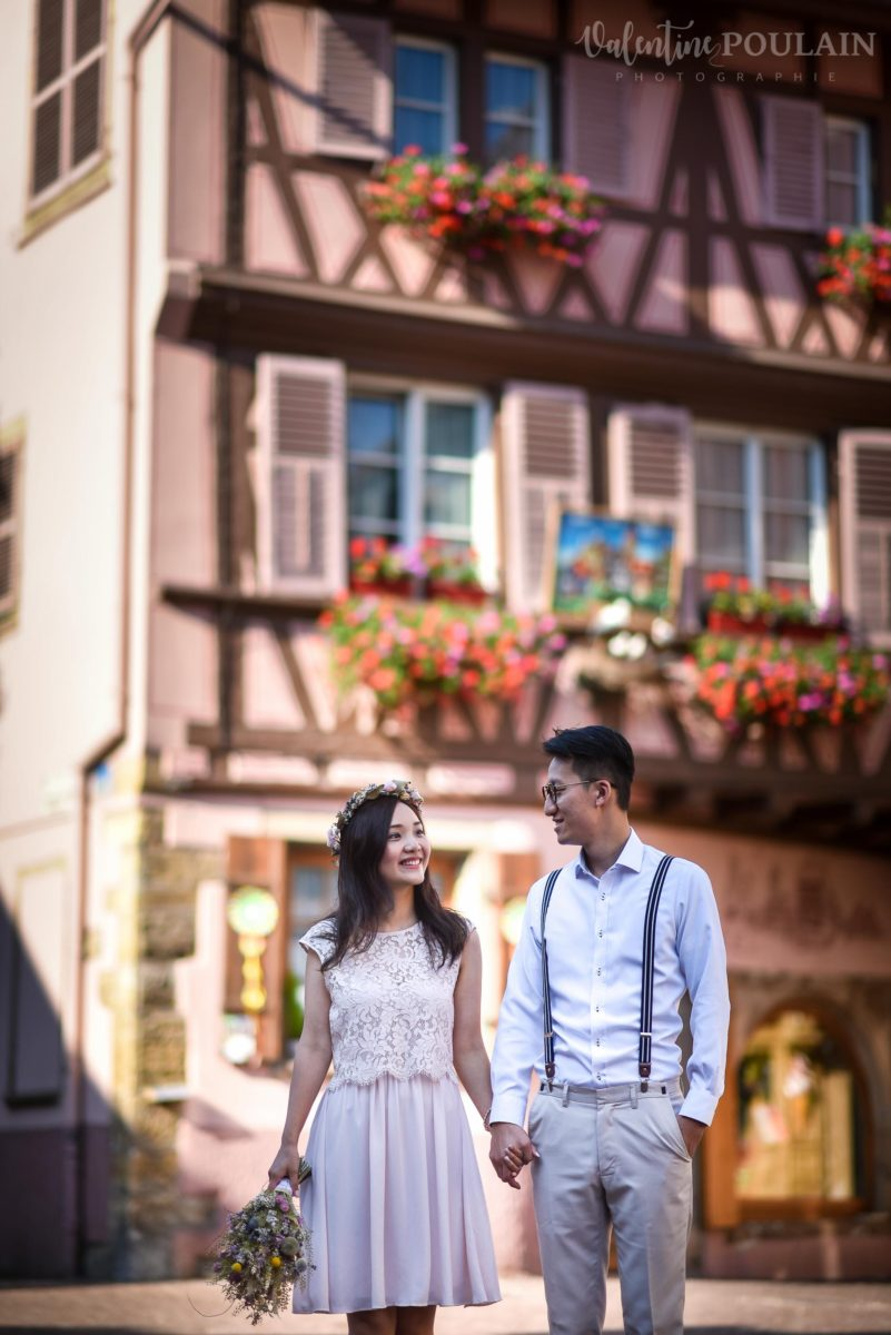 Save the date Colmar couple chinois - Valentine Poulain maison rose