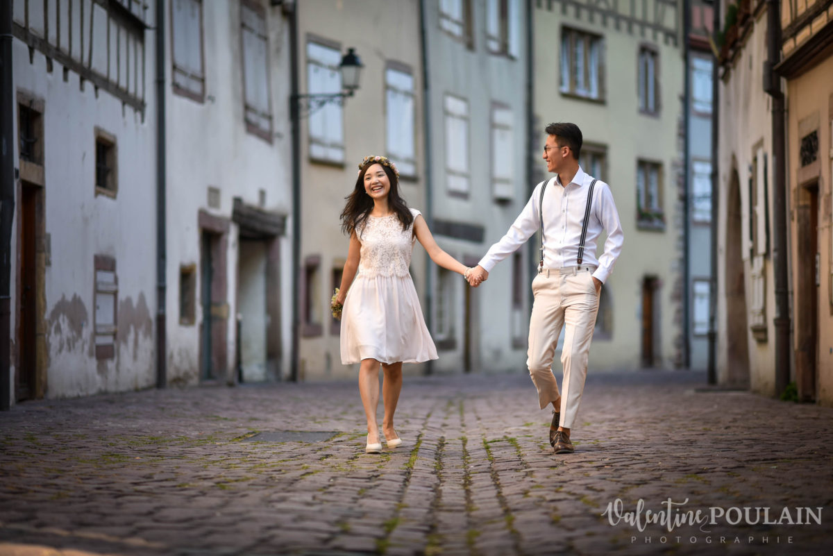 Save the date Colmar couple chinois - Valentine Poulain ruelles