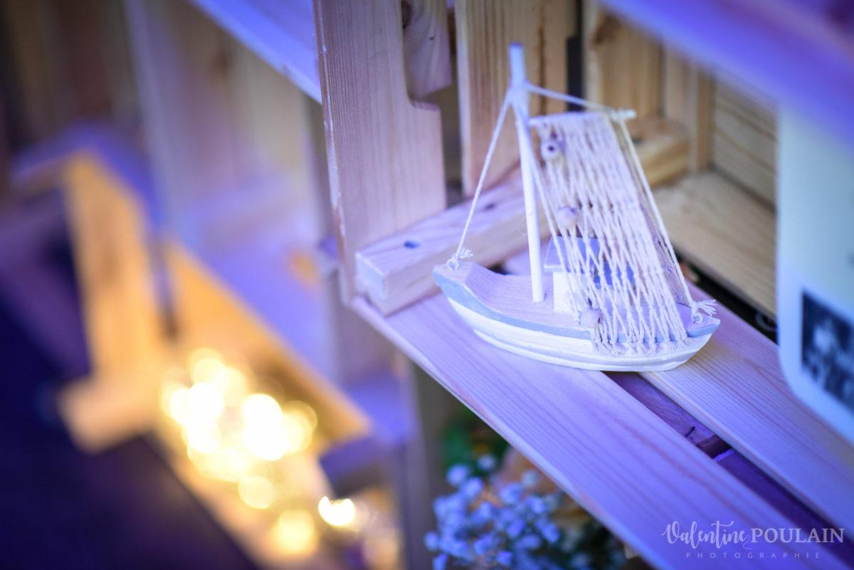 Mariage marin mer - Valentine Poulain bateau