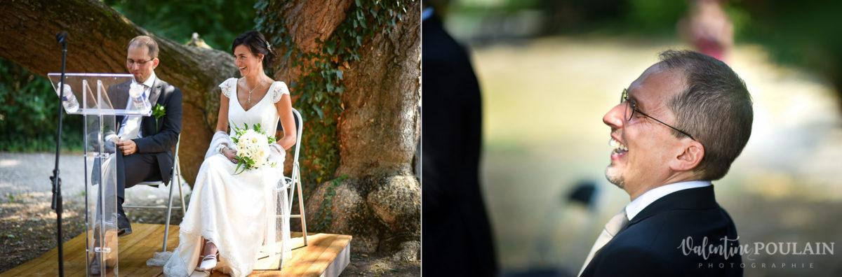 Mariage musée papier peint - Valentine Poulain colombe cérémonie rires