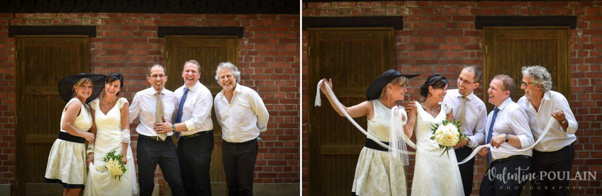 Mariage musée papier peint - Valentine Poulain colombe cérémonie témoins
