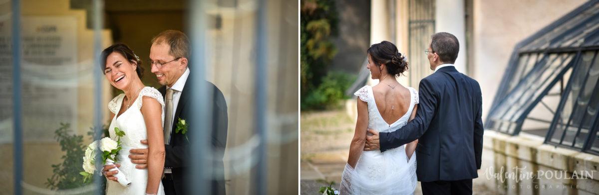 Mariage musée papier peint - Valentine Poulain colombe cérémonie serre