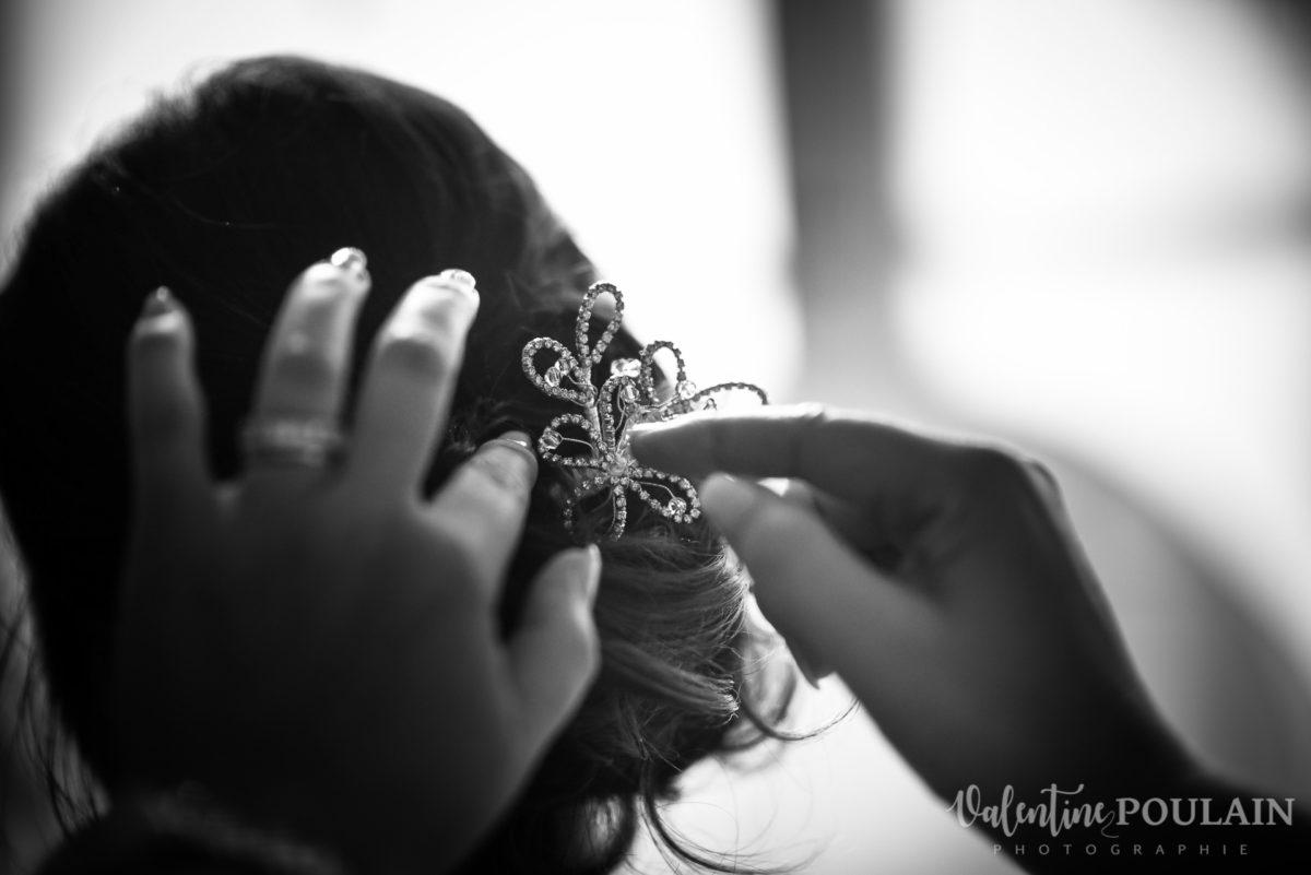 Mariage musée papier peint - Valentine Poulain colombe cheveux